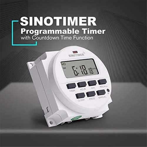 Peanutaor TM618N-4 Interrupteur Programmateur Programmable Num/érique AC 12V LCD Num/érique avec Relais List/é UL /à Lint/érieur avec Fonction Compte /à rebours