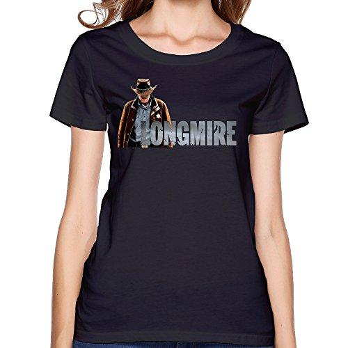 Fashion Womens Longmire T Shirts Black Size L