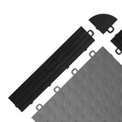 Black Block Tile R0US4212 Ramp Edges W/o Loops PP Edges Pattern by BlockTile (Image #1)