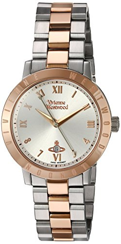 (Vivienne Westwood Quartz Stainless Steel Watch, Color:Two Tone (Model: VV152RSSL))