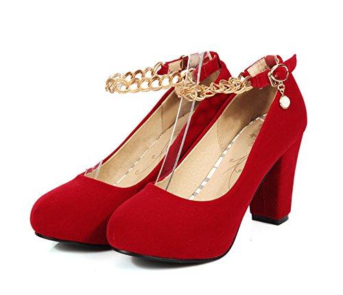 Zapatos De Mujer Elegantes Y Cómodos De La Plataforma De Las Bombas Del Tobillo De Las Mujeres De Aisun
