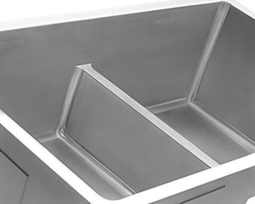 Ruvati 32-inch Low-Divide Undermount Tight Radius 50/50 Double Bowl 16 Gauge Stainless Steel Kitchen Sink - RVH7411 by Ruvati (Image #6)