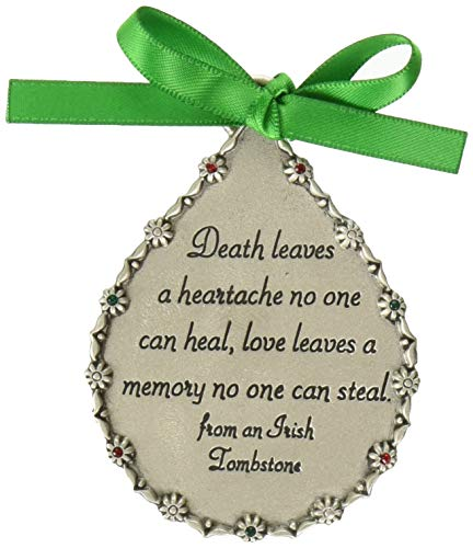 Cathedral Art CO519 Death Leaves a Heartache Teardrop Memorial Ornament, - Memorial Christmas Personalize Ornaments