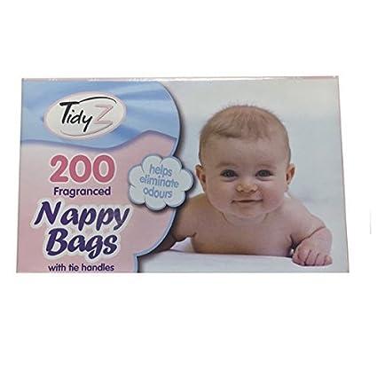 400 bebé fragancia aromática desechables para pañales bolsas para pañales bolsas con asas Corbata (400