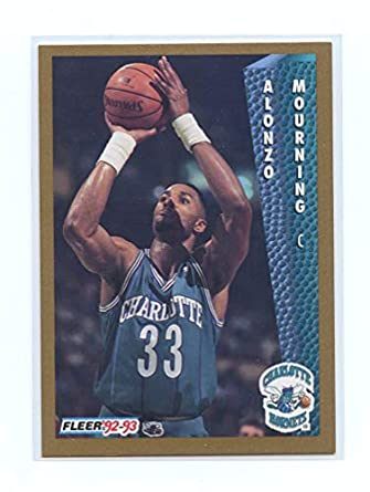 1991 92 Fleer 311 Alonzo Mourning Charlotte Hornets Rookie Card