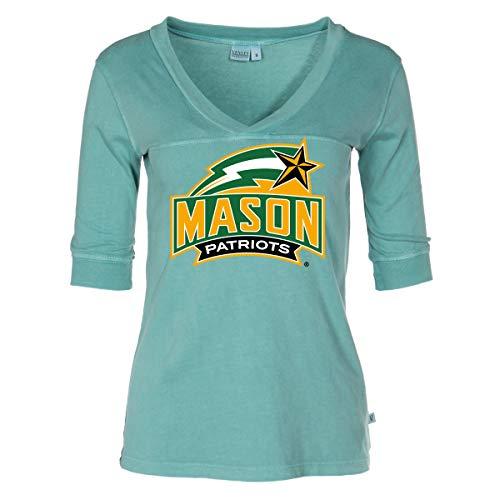 - Official NCAA George Mason Patriots - Women's 3/4 Sleeve Football Jersey