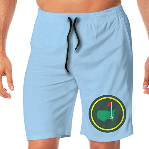 Moore Me Men's Swim Trunks Quick Dry Green Jacket Patch Surfing Beach Board - National Masters Augusta Club Golf