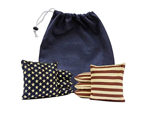 (Set of 8 Corn Filled Cornhole Bags Made with Regulation Duck Cloth (Tote Bag Included) 200+ Color Combinations)