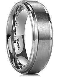 Amazon Com Titanium Men S Wedding Bands Jewelry