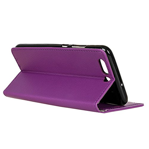 Huawei P10 Plus Hülle LifeePro [Anti-Scratch] Stoßfest PU Lederhülle Brieftasche Kartensteckplätze Stand Flip Abdeckung Voll körper Schutz mit Magnetverschluss für Huawei P10 Plus Rosa Lila