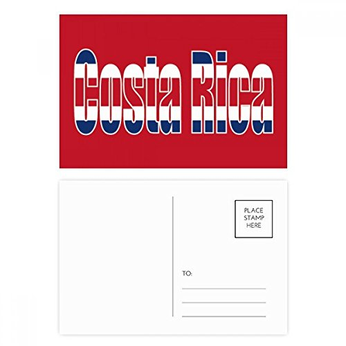 Costa Rica Country Flag Name Postcard Set Birthday Thanks Card Mailing Side 20pcs ()