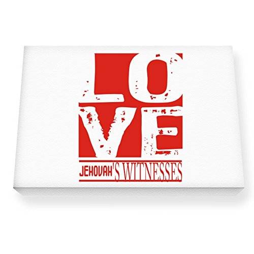 Teeburon Love Jehovah's Witnesses Canvas Wall Art