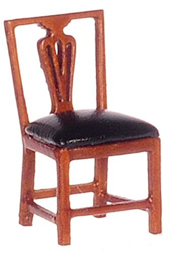 Dollhouse Miniature 1:24 Scale Walnut Jefferson Louis XVI Side Chair #T6931