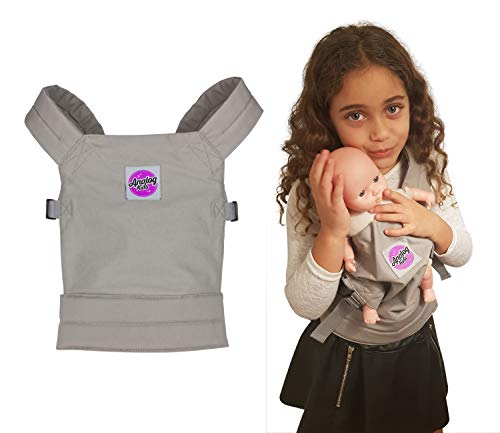 Analog-Kids Baby Doll Carrier for Girls and Boys Backpack Carrier for Front or Back Wear | Comfortable and Fun for Kids and Toddlers Pretend Baby and Toy Doll | Galaxy Grey | Cotton Canvas (Baby Carrier Kids)