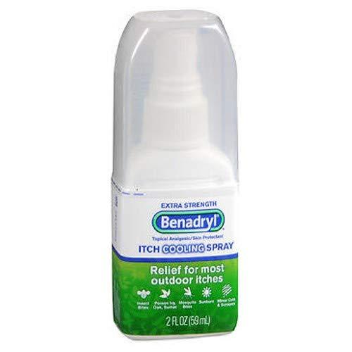 Benadryl Itch Relief Spray Extra Strength 2 oz (Pack of 6) by Benadryl