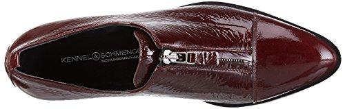 Kennel und Schmenger Schuhmanufaktur Milla - Zapatillas de casa de cuero mujer Rojo - Rot (bordo/gunmetal Sohle schwarz 653)