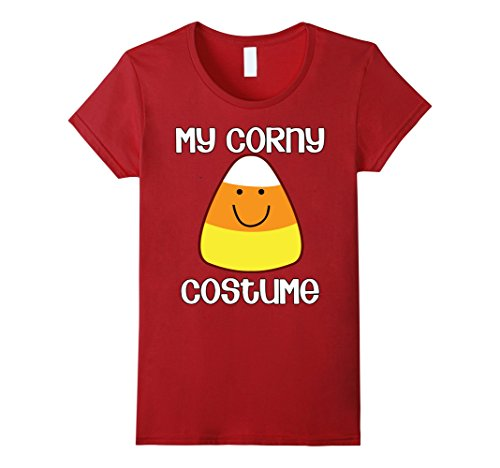 Simple Costume Ideas For Women (Womens My Corny Costume Simple Halloween Candy Corn T-shirt Medium Cranberry)