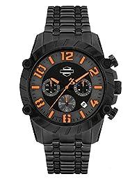 Harley-Davidson Men's Watch, Bulova Chronograph, Black Stainless Steel 78B137 by Harley-Davidson