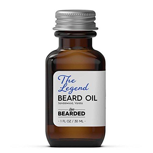 Beard Oil for Men – Live Bearded Beard Oils (Sandalwood Vanilla – The Legend)