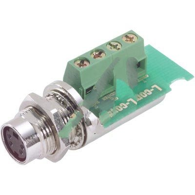 L-com Connectivity MD44FT, MINI DIN 4 (SVHS) FEMALE CONNECTOR FOR FIELD TERMINATION (Bulkhead S-video)