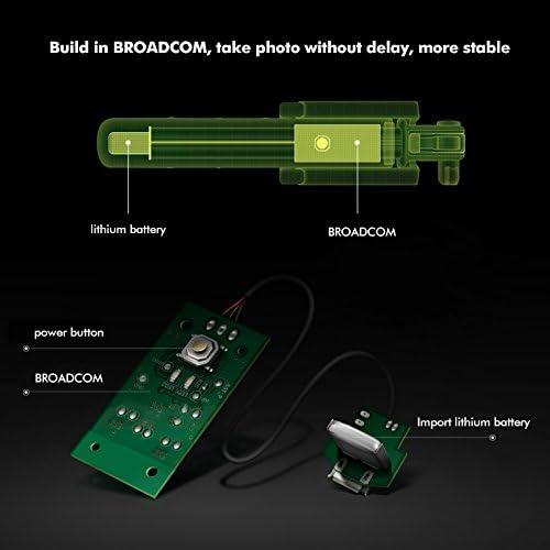 iClever IC-SS01 Bluetooth Selfie Stick Stange Teleskopisch Monopod mit eingebautem Bluetooth-Fernausl/öser 270/° Einstellbarer Handyhalter f/ür iPhone Android Smartphones Schwarz