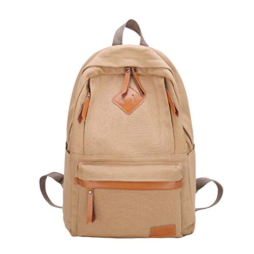 Laptop Backpack,SIN+MON Women's Fashion Canvas School Rucksack Outdoor Large Capacity Travel Bag Handbag Daypack Bookbags