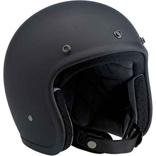 Biltwell Inc. Bonanza Helmet, Distinct Name: Flat Black, Gender: Mens/Unisex, Helmet Category: Street, Helmet Type: Open-face Helmets, Primary Color: Black, Size: XL BH-BLK-FL-DOTXL (Helmet Blk Xl)