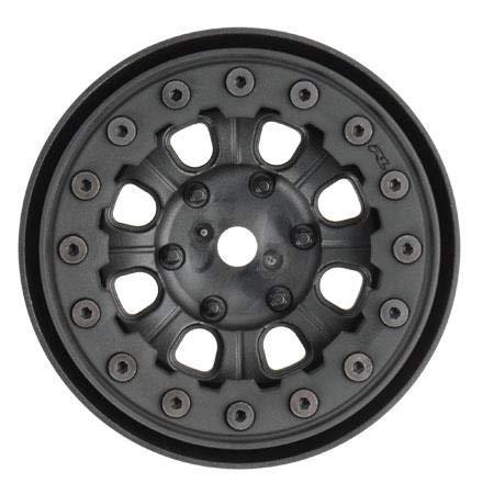 Pro-line Racing 274715 Denali 1.9 Black/Black Bead Loc 8 Spoke Front or Rear Wheels Radio Control Parts