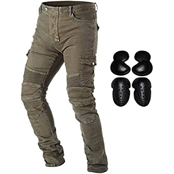 df7fb4af318 Takuey Motorcycle Riding Denim Jeans for Men Motocross Racing Armor Pants  With Detachable CE Certified Knee