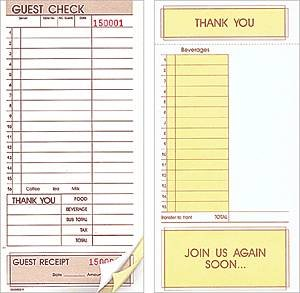 Price Buster 3-Part Guest Checks 4 1/4 x 8 1/2