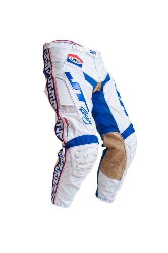 "JT Racing USA Classick 'ALS' Dirt Bike MX Motocross Pants (White Blue, 38"")"