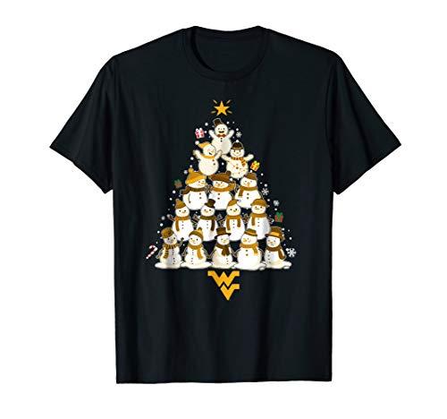 West Virginia Mountaineers Christmas Snowman T-Shirt