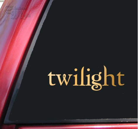 Twilight Logo Vinyl Decal Sticker - Mirror Gold -