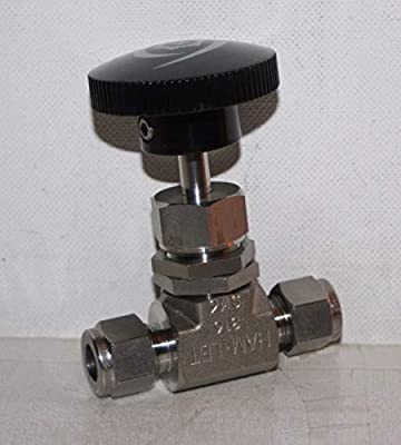 "3/8"" Tube-Fitting 5000 Psi SS Needle Valve Ham-Let H-300-SS-L-R-3/8-RS from Ham-Let"