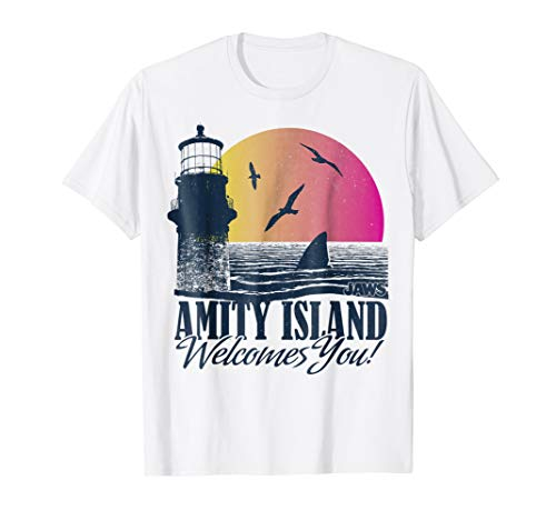 Jaws Sun set Amity Island welcomes you Graphic T-Shirt