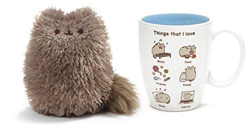 Pusheens Little Brother Pip and Things I Love Pusheen Mug Gift Set