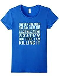 World's Greatest Grandma T-shirt Funny Gift For Grandmother