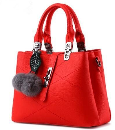 LDMB Bolsos para mujer Bolso de moda clásico dulce señora hombro Messenger , meters white big red