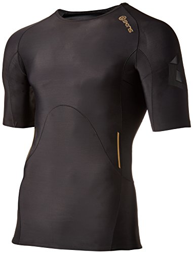 Skins Men's A400 Compression Short Sleeve Top, Oblique, X-Small by Skins (Image #1)