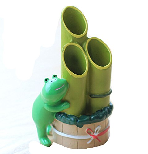 YOURNELO Frog Pen Stand Pencil Holder Desk Organizer Accessories