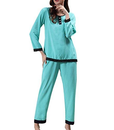 Juego Del Ocio Del Verano Alrededor Del Cuello De La Señora Pijamas Cómodos Interiores Blue