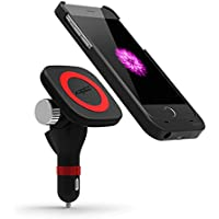 Wireless Car Charging, Kington Car Smart Magnetic Vehicle-Mounted Wireless Qi Stardard Charger Kits for iPhone6Plus/6SPlus