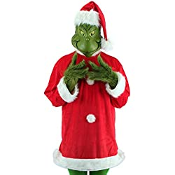 elope Dr. Seuss Santa Grinch Costume Deluxe with Mask Large/X-Large