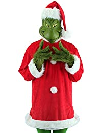Dr. Seuss Santa Grinch Costume Deluxe with Mask