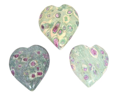 The Crystal Jewel Handcrafted Ruby Zoisite Puff Heart from India
