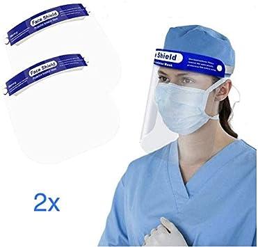 Pantalla Protección Facial. Face Shield. (Pack 2X, Face Shield): Amazon.es: Bricolaje y herramientas