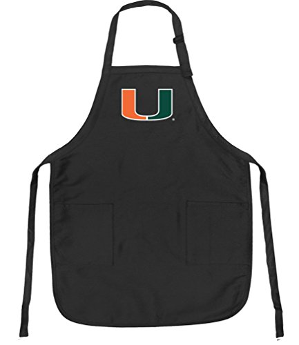 University of Miami Aprons NCAA Miami Canes Apron w/ Pockets