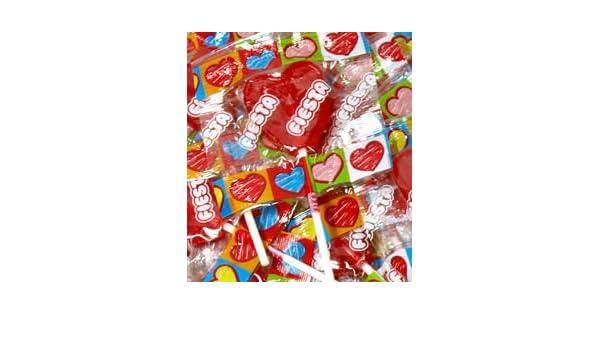 Fiesta Piruletas Corazón Cereza (Pack de 12): Amazon.es: Alimentación y bebidas
