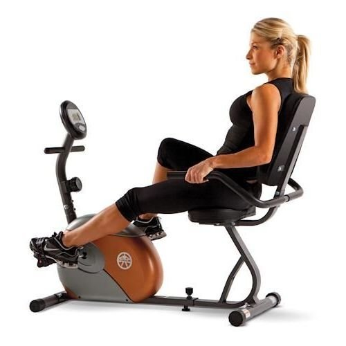 Marcy Recumbent Exercise Bike with Resistance ME-709 Certified Refurbished