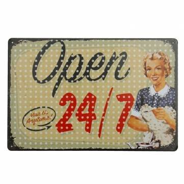Open Tin Sign Vintage Metal Plaque Poster Bar Pub Home Wall (Open Bar Nyc Halloween)